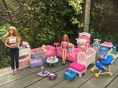 Bulk Lot Custom Made Set Barbie Baby Nursery DayCare Dolls Furniture Accessories