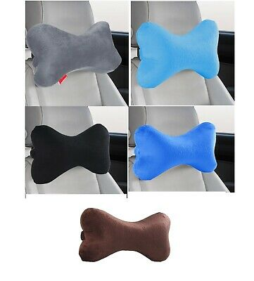 Dog Bone Memory Foam Car Neck Pillow Head Rest Travel Trip Posture Multi Color