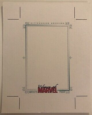 2008 Rittenhouse Women Of Marvel Series 1 Blank Artist Proof Sketch Card