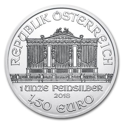 1 once oz argent silber 1,5€ AUTRICHE PHILHARMONIQUE republik osterreich 2018 P2