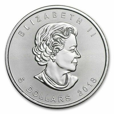 1 oz once argent CANADA 2018 BU 5$ dollars MAPLE LEAF 9999 Elizabeth II P2€