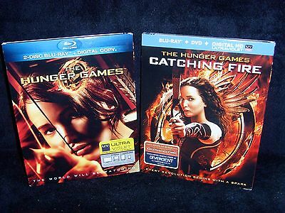 READ•The Hunger Games & Catching Fire (Blu-ray/DVD, 2013, 4-Disc) New & Open New