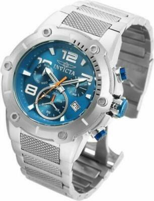 Invicta Mens 52mm Speedway Swiss Mvmt Chronograph Day Date Teal Blue Dial Watch