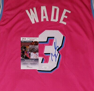 competitive price e537f 1370d DWYANE WADE SIGNED Miami Vice Pink Jersey Size XL In Person JSA CERTIFIED