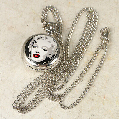 European Exquisite Classical Copper Carved Beauty Pocket Watch LB43.c