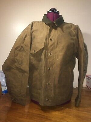 ff7378f099e70 Filson Cloth Field Jacket Large Style 623n brown tan green wool collar coat-  M-