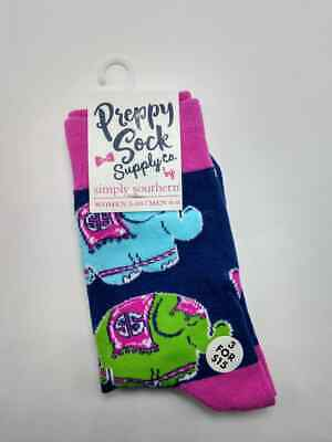 """NEW Simply Southern Preppy Socks  /""""CACTUS/"""" PINK /& WHITE  NWT FREE SHIPPING"""