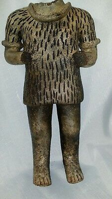 Vintage Pre columbian pottery statue high end reproduction mayan Chipi headless