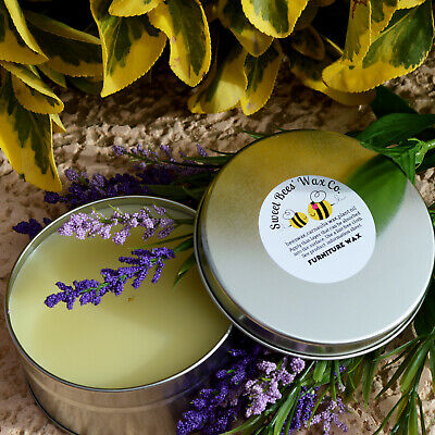 All Natural Lavender Scent Furniture WAX Seals wood & Paint 4oz Clear Paste