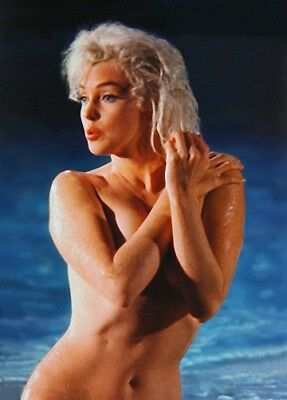 MARILYN MONROE  UNSEEN NUDE IN POOL  SGTG (1) RARE 8x10 GalleryQuality PHOTO