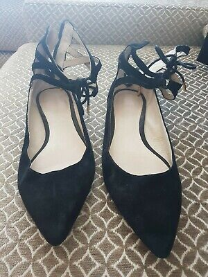 Witchery Size 40 Lace up ballet flats