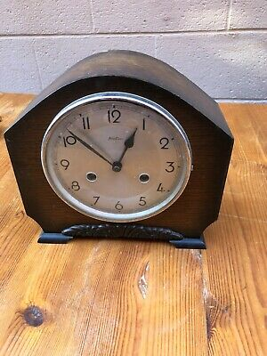 Vintage Wooden Cased Bentima  Mantle Clock, Requires Service