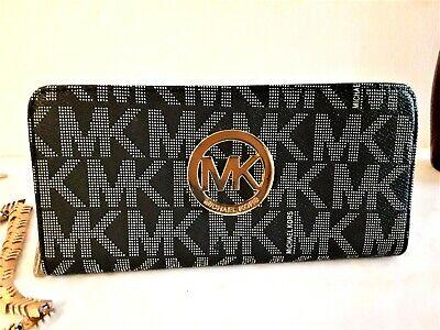 2befa6cdeb98 MICHAEL KORS WALLET-LEATHER-BLUE-FREE SHIPPING - $39.00 | PicClick