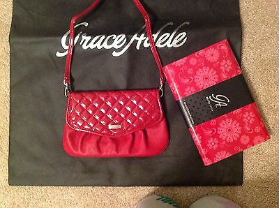 Brand New Grace Adele Elegant Jane Red Clutch with tags on