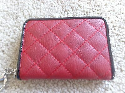 Brand New Grace Adele Elegant Zip Purselet Red Clip On