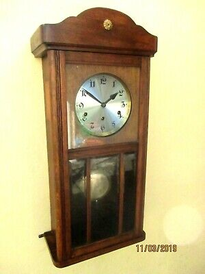 "Loveley Edwardian Oak cased  "" Westminster Chiming Clock, circa. 1930s."