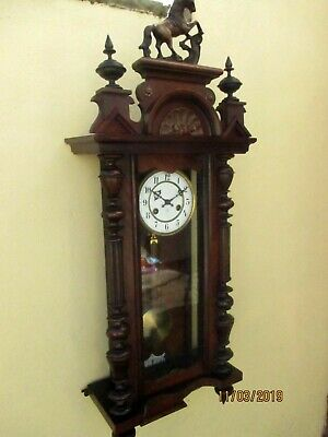 Junghans  8 Day striking Wall Clock circa. 1920s.