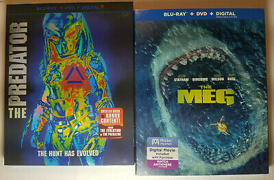 The Predator (2018) + The Meg (Blu-ray + DVD + Slip Covers, No Digital)