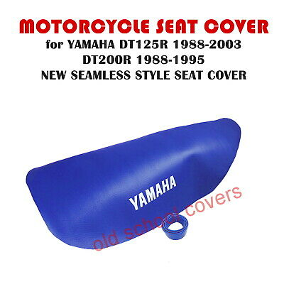 Yamaha Dt125R 1988-2003 Dt200R 1988-1995 Seamless Blue Seat Cover & Strap