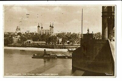 CPA - Carte postale- Royaume Uni- London- The Tower from the Tower Bridge-1950