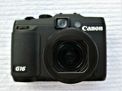 Canon PowerShot G16 12.1MP Digital Camera - Black