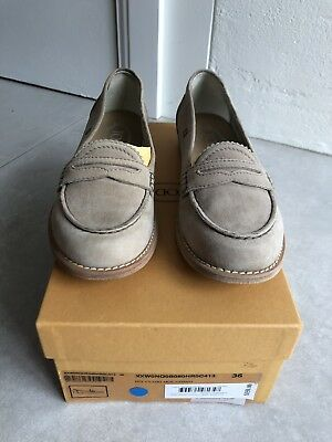 Tods Moscassino Shoes Suede Leather Size 36