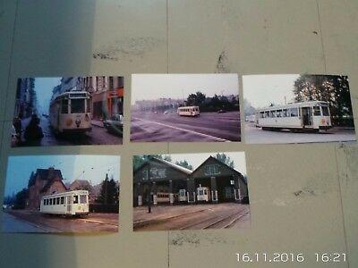Lot de 5 photos de tram ligne BW