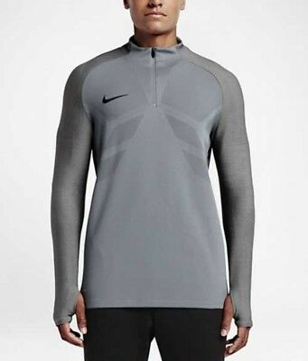 5aea0c38 Men's Nike Strike Aeroswift 1/4 Zip Soccer Drill Top grey 807034 065 ...