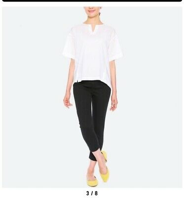 Uniqlo Maternity Cropped Leggings Pants Size M In Black
