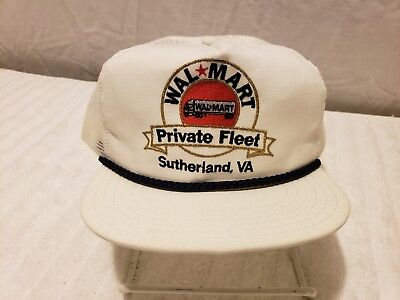 5dbf7d98bd414 Vintage WALMART Hat Snapback EMBROIDERED Trucker Cap MADE in USA ~ FAST  SHIP! A