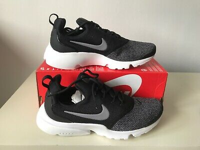 new york 49918 78b76 Nike Presto Fly SE UK Size 4 Womens Trainers Black Grey White