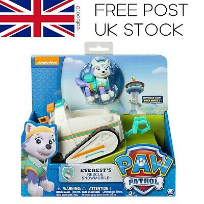 Paw Patrol Everest's Rescue Snowmobile, Vehicle and Figure *FREE POST UK STOCK*