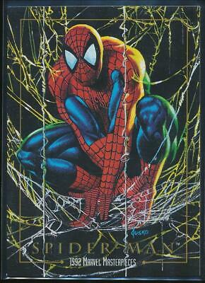 1992 Marvel Masterpieces Trading Card #87 Spider-Man