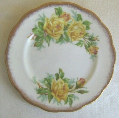 "Bread Butter Plate 6-1/4""  Royal Albert  Bone China  England  Yellow ""Tea Rose:"