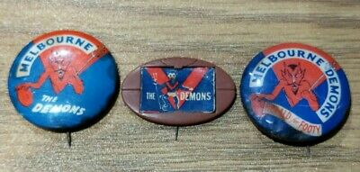 Melbourne Football Club The Demons 3 Badges