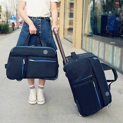 Unisex Travel Luggage Carry On Rolling Solid Wheeled Boarding Cabin Trolley Bag