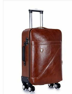 Men Rolling Luggage Cabin Suitcase Spinner Wheeled Business Travel Trolley Bags