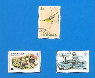 Bahamas.3 Used Stamps