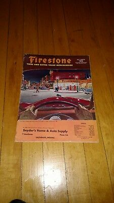 VTG 1950 Firestone Tires and Extra Value Merchandise  Fall and Winter Catalog