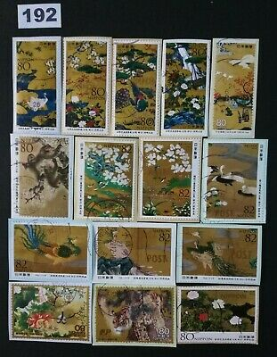 Japan Commemorative Old Japanese Picture Lot of Used Stamps On Paper Lot. 192