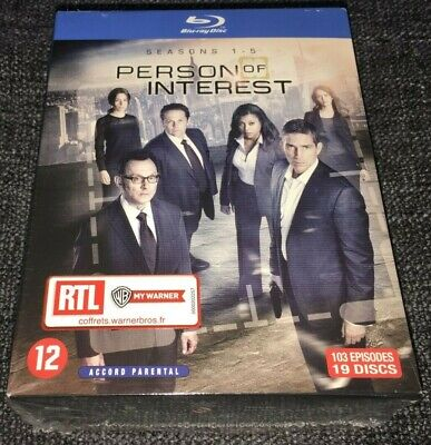 Person Of Interest Blu-ray Boxset The Complete Collection Seasons 1-5 NEW IMPORT