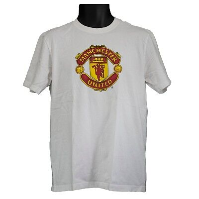 c5ff838a232 Mens Nike Standard Fit Manchester United White Short Sleeve T-Shirt Size L  Large