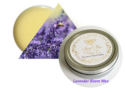 Lavender Scent All Natural Beeswax WAX Wood Furniture or Paint Sealer 8oz Clear