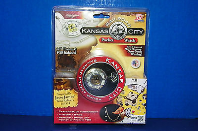 Kansas City Railroad Pocket Watch 2013 Telebrands Unopened As Seen on TV