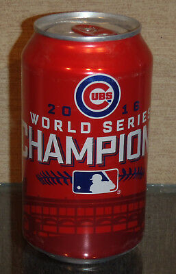 2016 World Series Champions Chicago Cubs Budweiser Beer Can Bottom Open Mlb