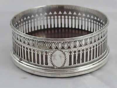 Quality Antique Georgian Solid Sterling Silver Wine Coaster Robert Hennell 1792