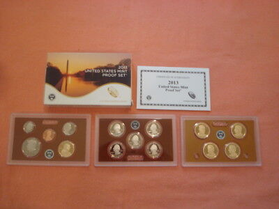 2013-S U.s. Mint Clad Proof Set In Ogp With Coa's 14 Coin Set
