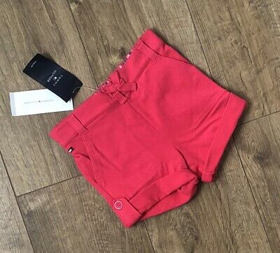 New Tommy Hilfiger Girls Pink Shorts Bottoms Size 4 Years