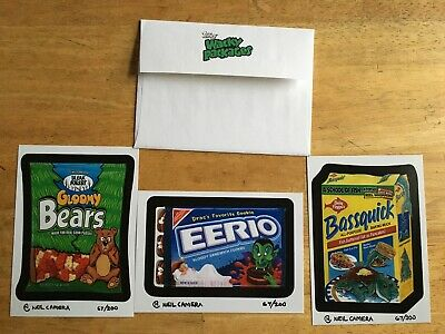 2009 Topps Wacky Packages Postcards Set Series 3 + Envelope Limited Edition 67