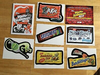 2013 Limited Edition Topps Wacky Packages Halloween Postcards Set + Coa 6 Cards